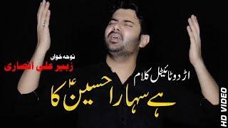 Title Kalam HA SAHARA HUSSAIN KA   Zubair Ali Ansari 2013 Urdu Noha