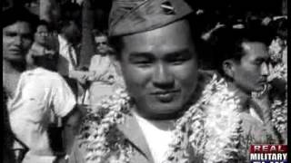 getlinkyoutube.com-Japanese American Soldiers Return to Hawaii for a Hero's Welcome August 1946