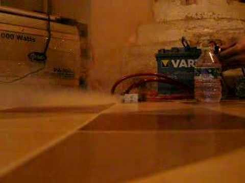maquina de humo casera a 12 voltios para coche