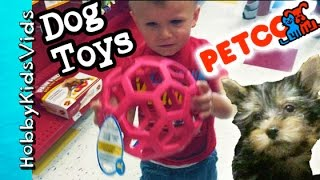 Petco Dog Toy Haul! HobbyPuppy Goes Shopping Fun Pet Toys HobbyKidsVids