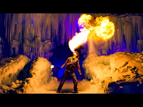 The Human Dragon! Fire Breathing Human in 4K!