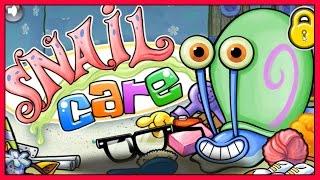 getlinkyoutube.com-Spongebob Squarepants (Gary) Snail Care Game - FULL HD English Game - Spongebob Out of Water