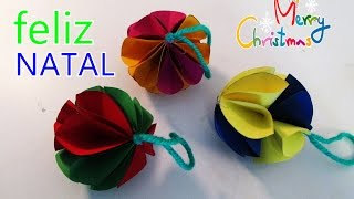 getlinkyoutube.com-DIY Faça voce mesmo bolas de natal com papel com muito estilo