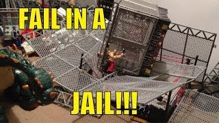 getlinkyoutube.com-GTS WRESTLING: Fail in a Jail PPV! WWE Mattel figure matches animation action event!