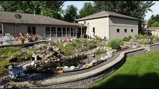 getlinkyoutube.com-Large Private Model Railroad RR LGB G Scale Gauge Train Layout of Dennis Cipcich's awesome trains