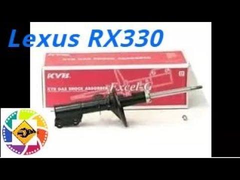 Lexus RX330 2003 замена передних амортизаторов год Replacement of front shock absorbers