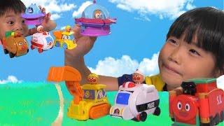 getlinkyoutube.com-アンパンマン おもちゃ チキチキ変身 はたらく 乗り物 Anpanman  Vehicle Toy