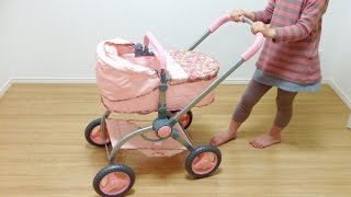 getlinkyoutube.com-Baby Annabell 2-in-1 Pram / Baby Doll stroller  / ベビー アナベル ベビーカーと赤ちゃん人形