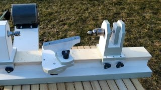 getlinkyoutube.com-Homemade Lathe Pt. 2 - tool rest and tailstock