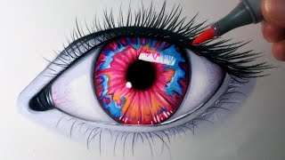 getlinkyoutube.com-Drawing an Opal Coloured Eye - Time Lapse