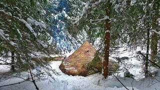getlinkyoutube.com-Solo Winter Bushcraft Camp - 4 Days Off the Grid [Full Documentary]