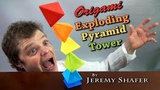 getlinkyoutube.com-Origami Exploding Pyramid Tower