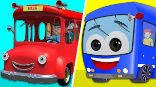 getlinkyoutube.com-Wheels On The Bus | Wheels On The Bus Go Round and Round | Kids Rhymes