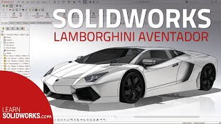 getlinkyoutube.com-Solidworks Lamborghini Aventador Tutorial in 5min