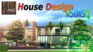 getlinkyoutube.com-THE SIMS 4 House design tour - Modern Tropicana