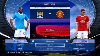 getlinkyoutube.com-PES 2015 Patch 8 0 Man City v Man Utd UPDATE 8.4, 2.5k Gameplay 60fps