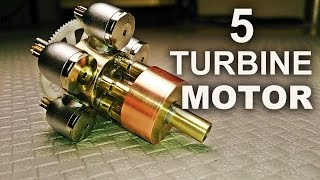 getlinkyoutube.com-Making A Quintuple Turbine Model Motor