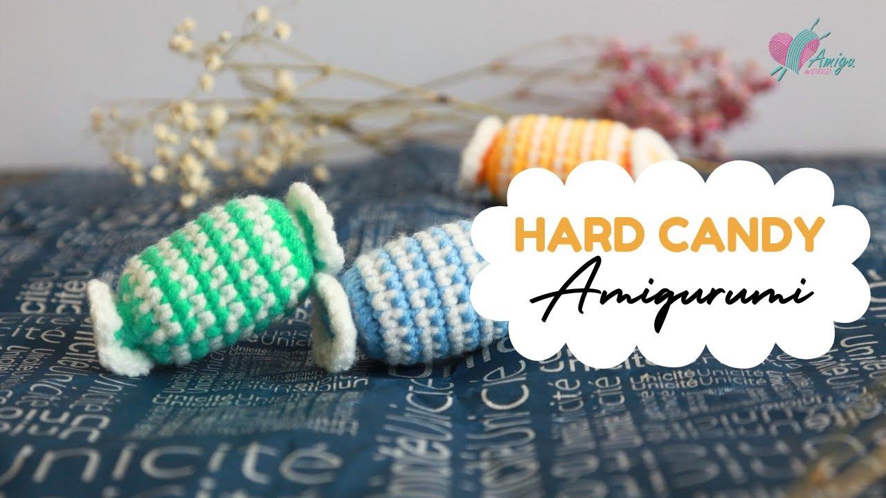 Móc viên kẹo ngọt sắc màu bằng len