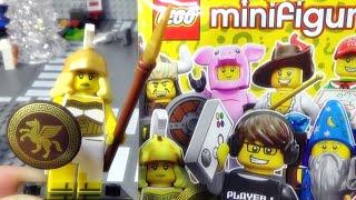 getlinkyoutube.com-배틀 가디스 레고 미니피규어 시즌 12 Lego 71007 battle goddess 랜덤 폴리백 미피 개봉 조립기