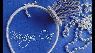 getlinkyoutube.com-Новогодняя корона Снежной Королевы из атласных лент