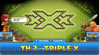 getlinkyoutube.com-★ Clash of Clans Troll Base ★ TH7 - Triple X Farming