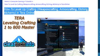 getlinkyoutube.com-Tera Crafting Leveling Guide (Armorcrafting, Weaponcrafting, Alchemy, Etching)