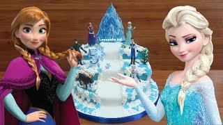Mainan Frozen Cara Menghias Kue Ultah Frozen Elsa - Cara Membuat Kue Ulang Tahun Frozen Tingkat