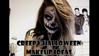 getlinkyoutube.com-Scary/Creepy Halloween ideas make up tutorial