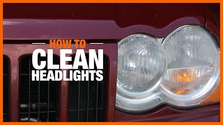 A video demonstrates how to clean headlights using toothpaste.