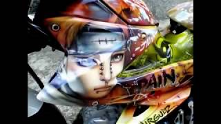 getlinkyoutube.com-- AIRBRUSH KAWASAKI FURY ( Naruto design ) -