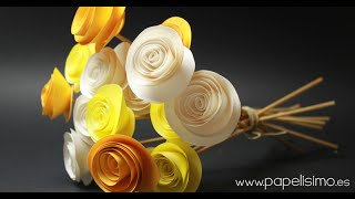 getlinkyoutube.com-Ramo de rosas de papel