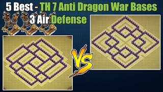 getlinkyoutube.com-Clash of Clans - Top 5 Best Town hall 7 (Th7) War Base & Trophy Base ANTi Dragon with 3 Air Defenses