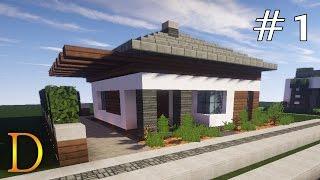 MINECRAFT PORADNIK - Jak zbudować fajny domek 20x20 [#1]