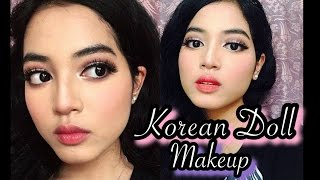 getlinkyoutube.com-Pink Korean Doll Mekap|BAHASA| Kulit Hitam Manis
