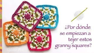 getlinkyoutube.com-Granny square invertido tejido a crochet - Incluye diagramas ;)