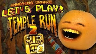 getlinkyoutube.com-Annoying Orange Let's Play Temple Run 2!