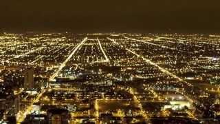 Chicago Night, Traffic & City Lights | Time Lapse