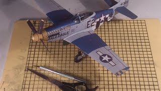 getlinkyoutube.com-How to make a cool paper plane model: instruction| P-51D Mustang