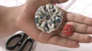 getlinkyoutube.com-Fuxico de tecido simples, como fazer