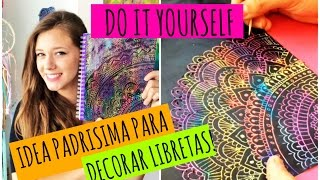 Decora tus libretas con esta idea! | DIY