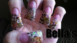 getlinkyoutube.com-Uñas Acrilicas Leopardo de Abanico (pato)