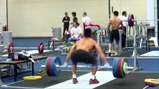 getlinkyoutube.com-Lu Xiaojun 180kg Fast Snatch Pull - London Olympics