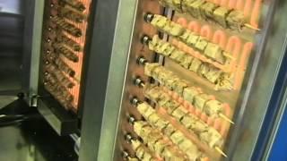 getlinkyoutube.com-Αυτόματη ψησταριά σουβλακίων grill machine