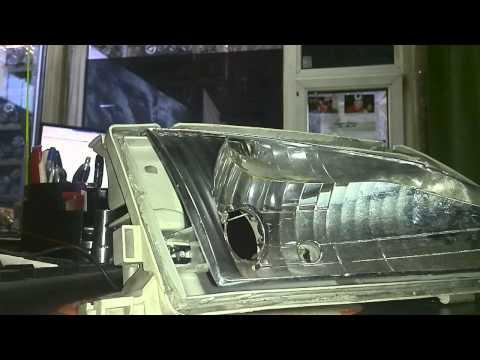 Работа установленного корректора фары в корпус фары Toyota Corona Premio от Toyota Caldina