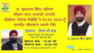 getlinkyoutube.com-Sukhpal Singh Khaira Live on Media Punjab Radio (04-01-2016)