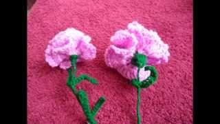 Crochet Carnation Flower: Type 1 Tutorial