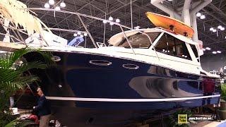 getlinkyoutube.com-2015 Cutwater 26 Motor Boat - Walkaround - 2015 New York Boat Show