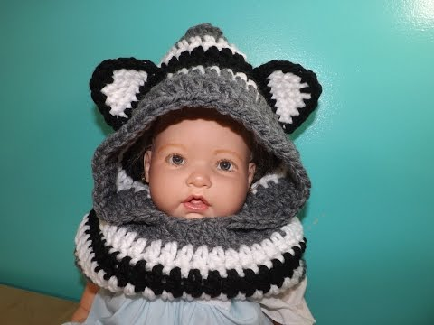 Crochet Baby Scootie With Ears, From  Baby To Adult