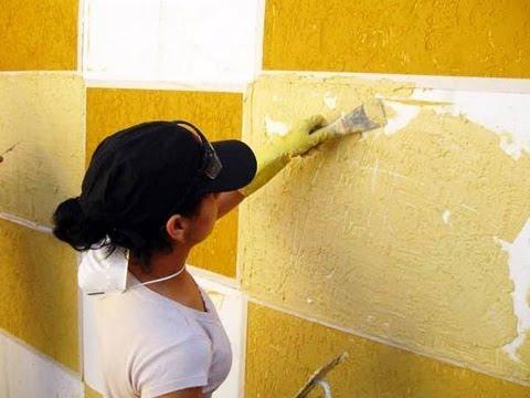 Como aplicar textura em paredes, grafiato , textura, como fazer textura,