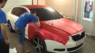 getlinkyoutube.com-Perfect Job TeckWrap Red Matte Metallic Full Wrap by Vinil Masters Russia